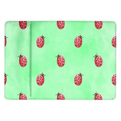 Pretty Background With A Ladybird Image Samsung Galaxy Tab 10 1  P7500 Flip Case