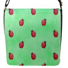 Pretty Background With A Ladybird Image Flap Messenger Bag (S)