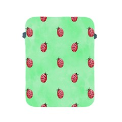 Pretty Background With A Ladybird Image Apple Ipad 2/3/4 Protective Soft Cases
