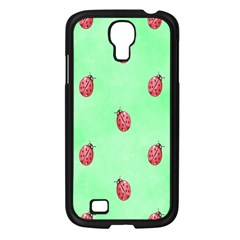 Pretty Background With A Ladybird Image Samsung Galaxy S4 I9500/ I9505 Case (Black)