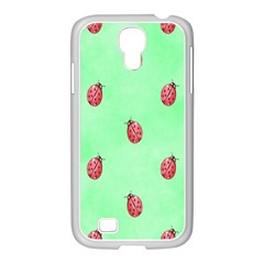 Pretty Background With A Ladybird Image Samsung Galaxy S4 I9500/ I9505 Case (white)