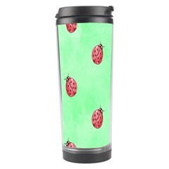 Pretty Background With A Ladybird Image Travel Tumbler