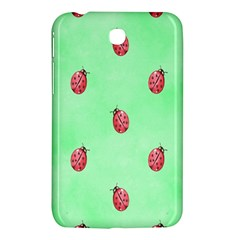 Pretty Background With A Ladybird Image Samsung Galaxy Tab 3 (7 ) P3200 Hardshell Case