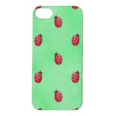 Pretty Background With A Ladybird Image Apple iPhone 5S/ SE Hardshell Case
