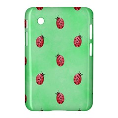 Pretty Background With A Ladybird Image Samsung Galaxy Tab 2 (7 ) P3100 Hardshell Case