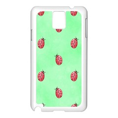 Pretty Background With A Ladybird Image Samsung Galaxy Note 3 N9005 Case (white)