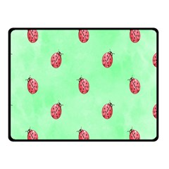 Pretty Background With A Ladybird Image Double Sided Fleece Blanket (Small)