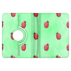 Pretty Background With A Ladybird Image Kindle Fire HDX Flip 360 Case