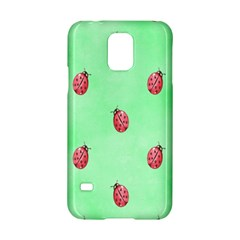 Pretty Background With A Ladybird Image Samsung Galaxy S5 Hardshell Case
