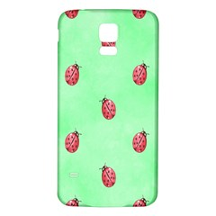 Pretty Background With A Ladybird Image Samsung Galaxy S5 Back Case (White)