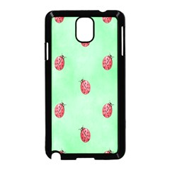 Pretty Background With A Ladybird Image Samsung Galaxy Note 3 Neo Hardshell Case (black)