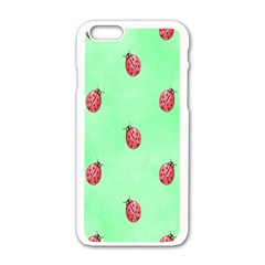Pretty Background With A Ladybird Image Apple Iphone 6/6s White Enamel Case