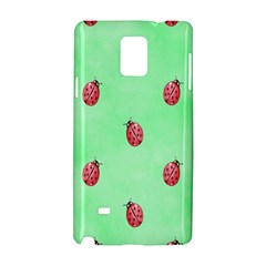 Pretty Background With A Ladybird Image Samsung Galaxy Note 4 Hardshell Case