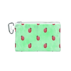 Pretty Background With A Ladybird Image Canvas Cosmetic Bag (S)