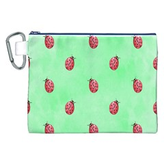 Pretty Background With A Ladybird Image Canvas Cosmetic Bag (xxl)