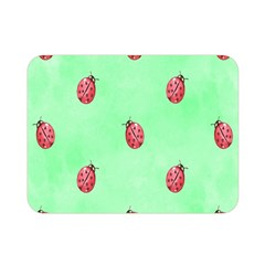 Pretty Background With A Ladybird Image Double Sided Flano Blanket (Mini)