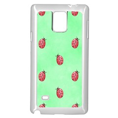 Pretty Background With A Ladybird Image Samsung Galaxy Note 4 Case (white)