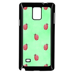 Pretty Background With A Ladybird Image Samsung Galaxy Note 4 Case (black)