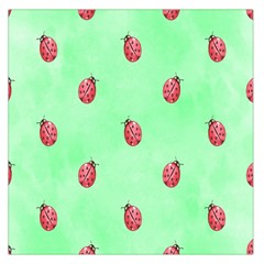 Pretty Background With A Ladybird Image Large Satin Scarf (square)