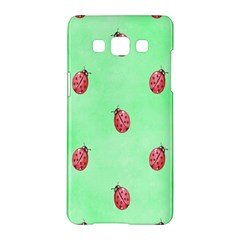Pretty Background With A Ladybird Image Samsung Galaxy A5 Hardshell Case