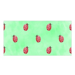 Pretty Background With A Ladybird Image Satin Shawl