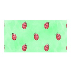 Pretty Background With A Ladybird Image Satin Wrap