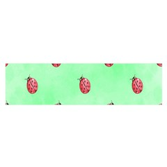 Pretty Background With A Ladybird Image Satin Scarf (Oblong)
