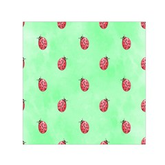 Pretty Background With A Ladybird Image Small Satin Scarf (Square)