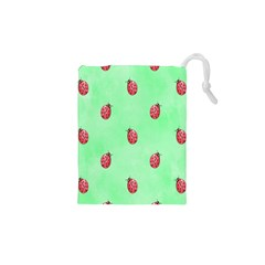 Pretty Background With A Ladybird Image Drawstring Pouches (XS)