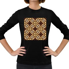 Abstract Seamless Background Pattern Women s Long Sleeve Dark T Shirts
