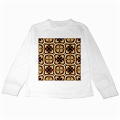 Abstract Seamless Background Pattern Kids Long Sleeve T-Shirts