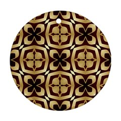 Abstract Seamless Background Pattern Round Ornament (Two Sides)