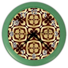 Abstract Seamless Background Pattern Color Wall Clocks