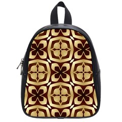Abstract Seamless Background Pattern School Bags (Small)