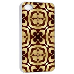 Abstract Seamless Background Pattern Apple iPhone 4/4s Seamless Case (White)