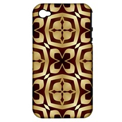 Abstract Seamless Background Pattern Apple iPhone 4/4S Hardshell Case (PC+Silicone)