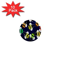 Bees Cartoon Bee Pattern 1  Mini Magnet (10 Pack)