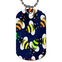 Bees Cartoon Bee Pattern Dog Tag (two Sides)