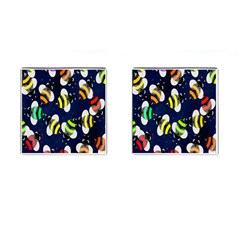 Bees Cartoon Bee Pattern Cufflinks (square)