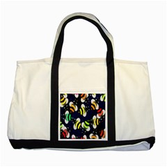 Bees Cartoon Bee Pattern Two Tone Tote Bag