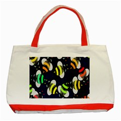 Bees Cartoon Bee Pattern Classic Tote Bag (Red)
