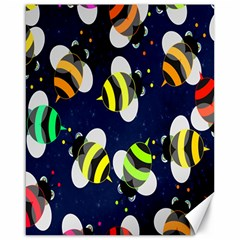 Bees Cartoon Bee Pattern Canvas 16  X 20