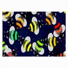 Bees Cartoon Bee Pattern Large Glasses Cloth