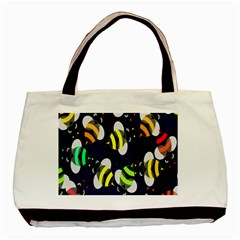 Bees Cartoon Bee Pattern Basic Tote Bag (two Sides)