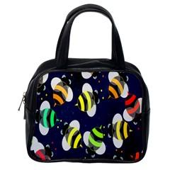 Bees Cartoon Bee Pattern Classic Handbags (One Side)