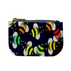 Bees Cartoon Bee Pattern Mini Coin Purses