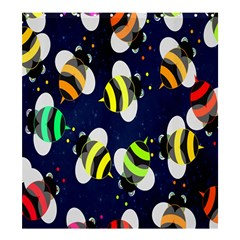 Bees Cartoon Bee Pattern Shower Curtain 66  x 72  (Large)