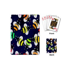 Bees Cartoon Bee Pattern Playing Cards (Mini)
