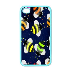 Bees Cartoon Bee Pattern Apple iPhone 4 Case (Color)