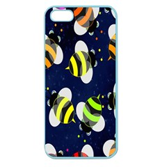 Bees Cartoon Bee Pattern Apple Seamless iPhone 5 Case (Color)